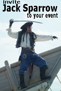Invite Jack Sparrow to your event